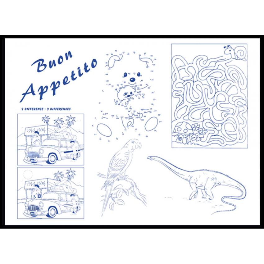 Хартиена подложка за хранене - Bimbi Kids 33см х 44см  - 250 бр.