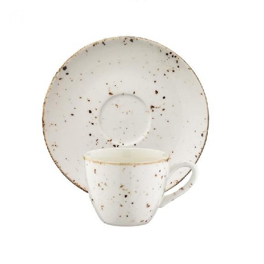 Чаша с чинийка за кафе Bonna Grain - 70мл. - 6 броя