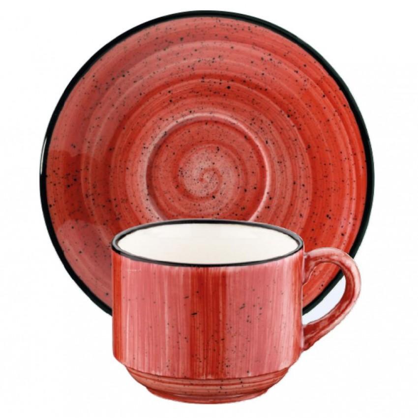 Чаша с чинийка Bonna Passion - 210мл.