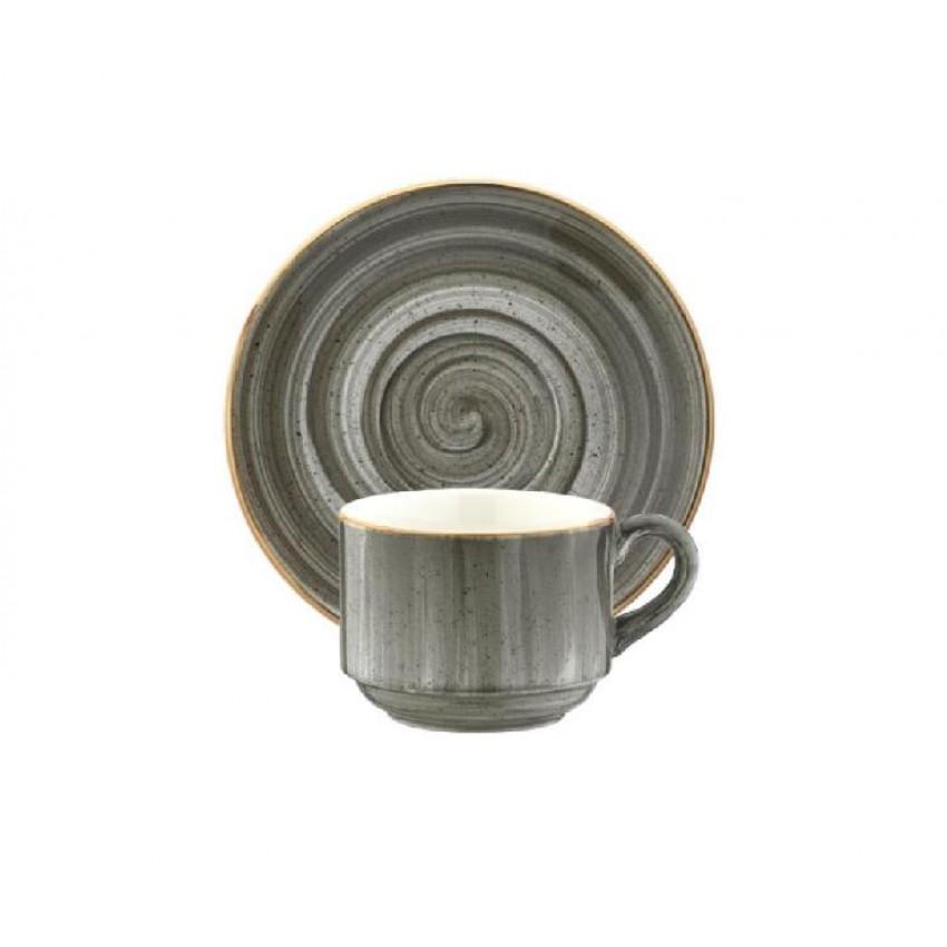 Чаша с чинийка за кафе Bonna Space - 80мл. - 1 бр.