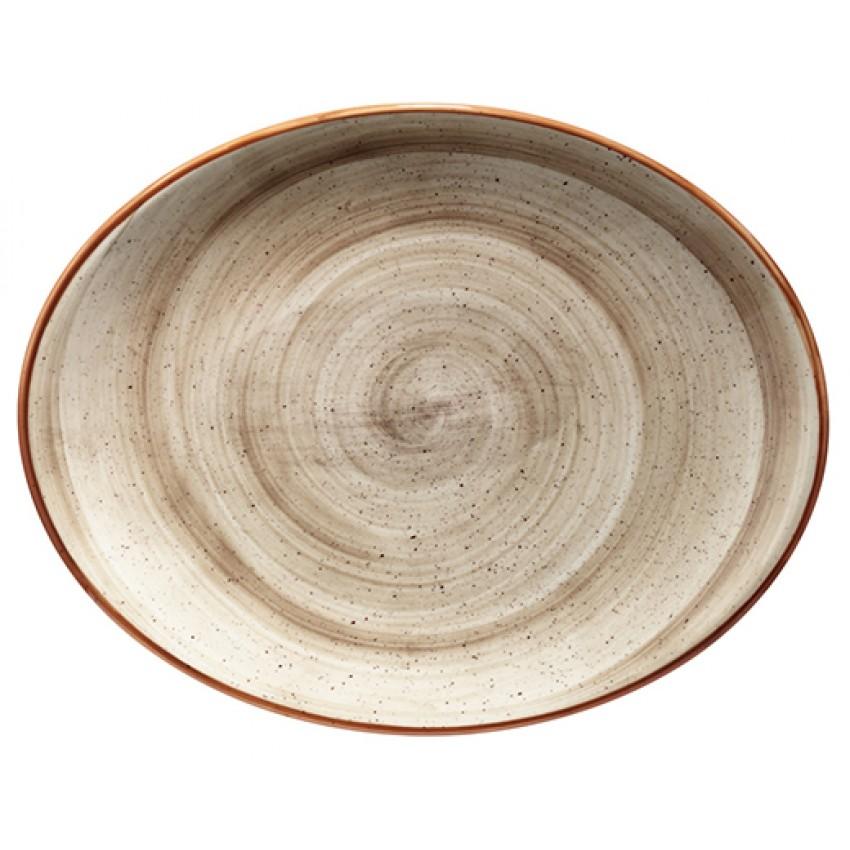 Порцеланова овална чиния Bonna Terrain - 31х24см. - 1 брой