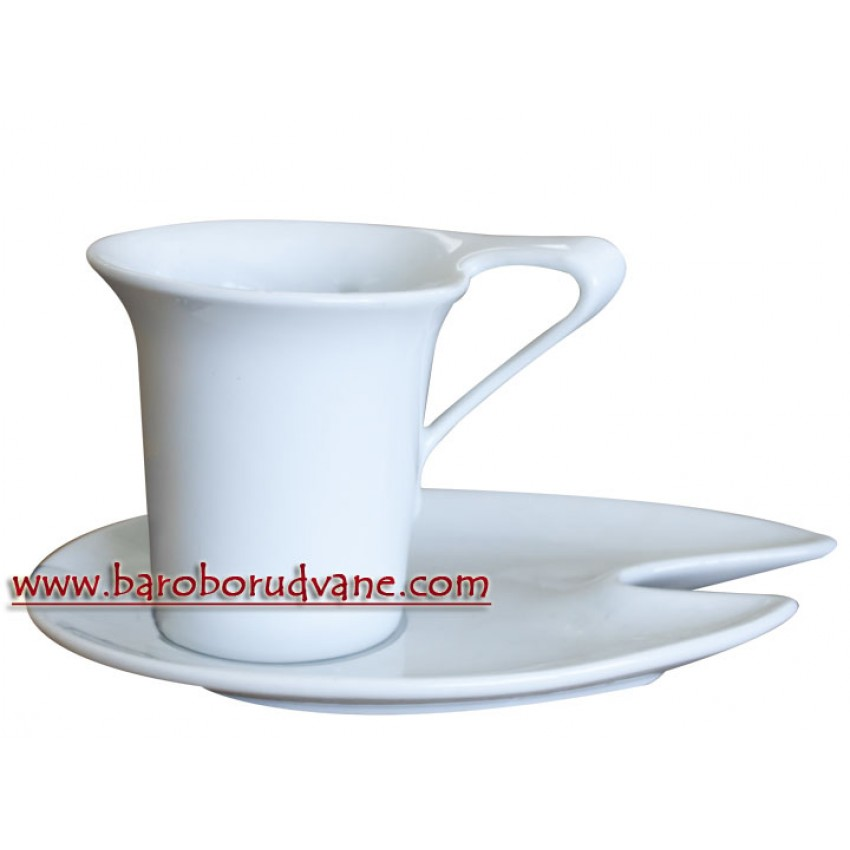 Чаша с чинийка 110ml - 12 броя