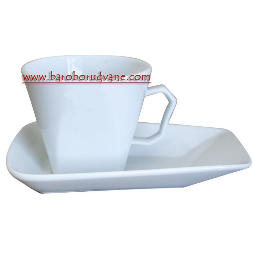 Чаша с чинийка 70ml - 12 броя