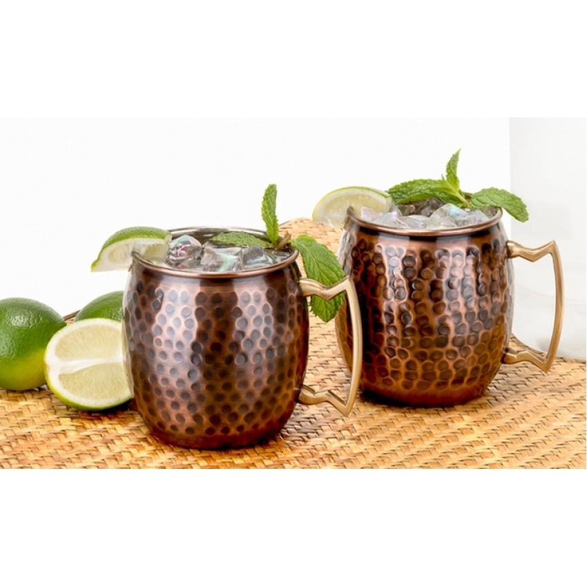 Медна чаша за коктейл 480ml - тъмна - 1 брой