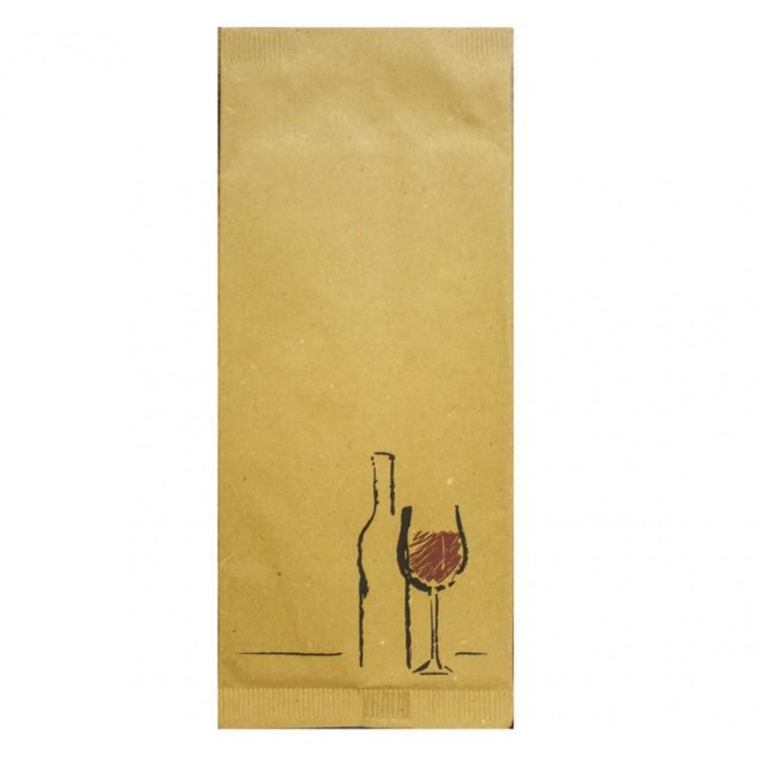 """Хартиен джоб за прибори """"Вино"""" (ЖЪЛТ ЦВЯТ) - 125 бр."""