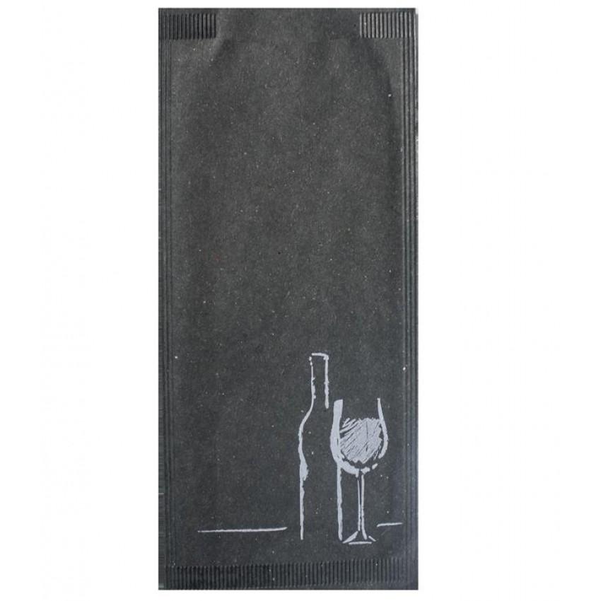 """Хартиен джоб за прибори """"Вино"""" (ЧЕРЕН ЦВЯТ) - 125 бр."""