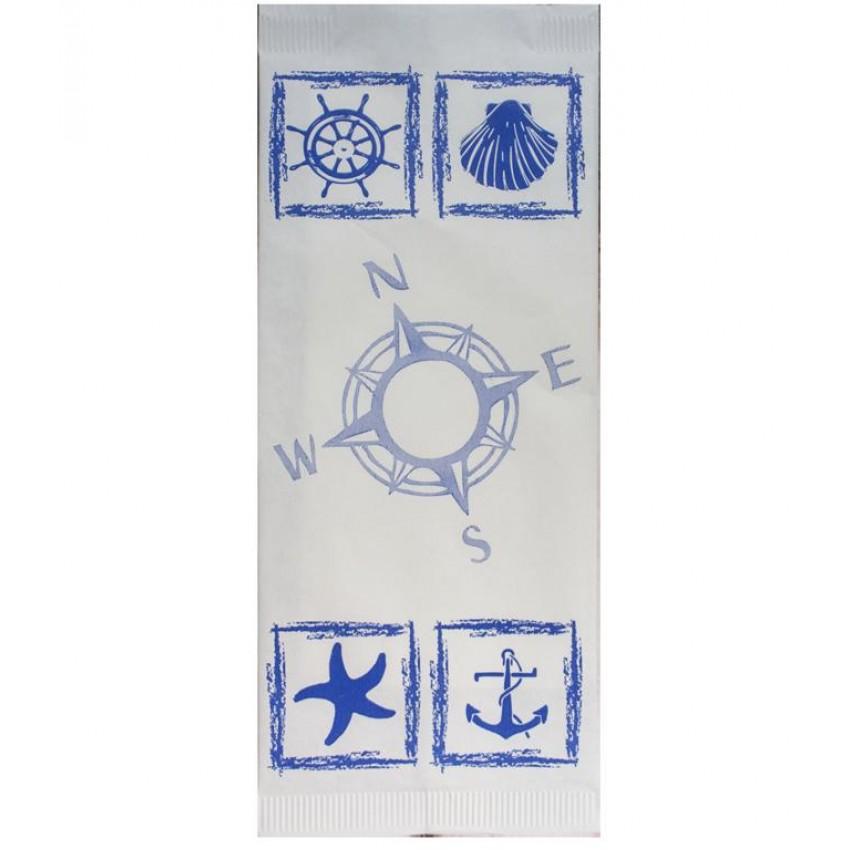 """Хартиен джоб за прибори  """"Море"""" - 125 бр."""