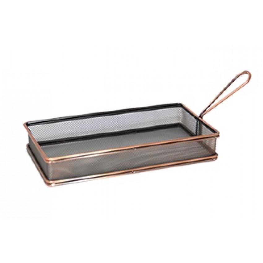 """Метална кошница за сервиране - цвят """"ковано желязо"""" - 26x13x5cm."""