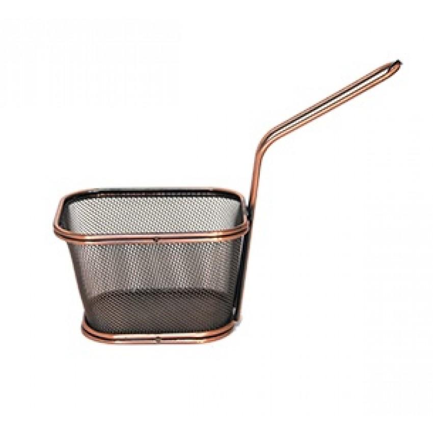 """Метална кошница за сервиране - цвят  """"ковано желязо"""" - 10,5x9x6cm."""