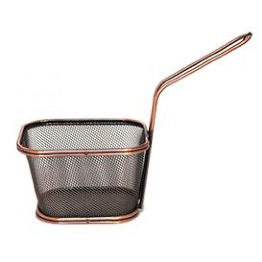 """Метална кошница за сервиране - цвят """"ковано желязо"""" - 11x13x8.5cm."""