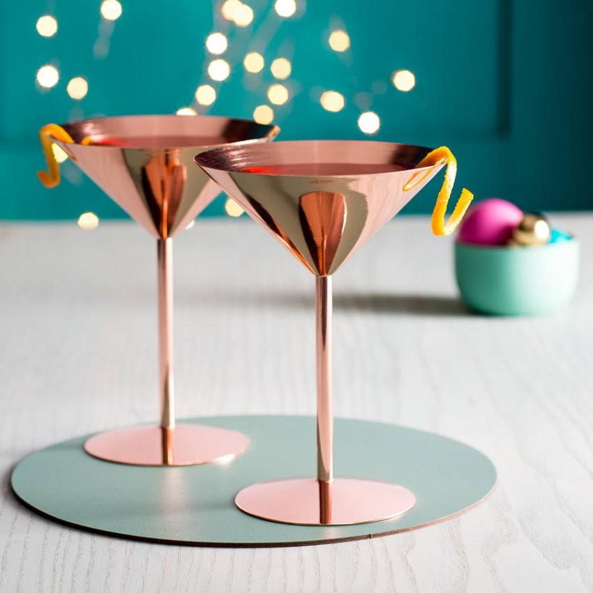 Метална медна чаша за мартини 240ml - 1 брой