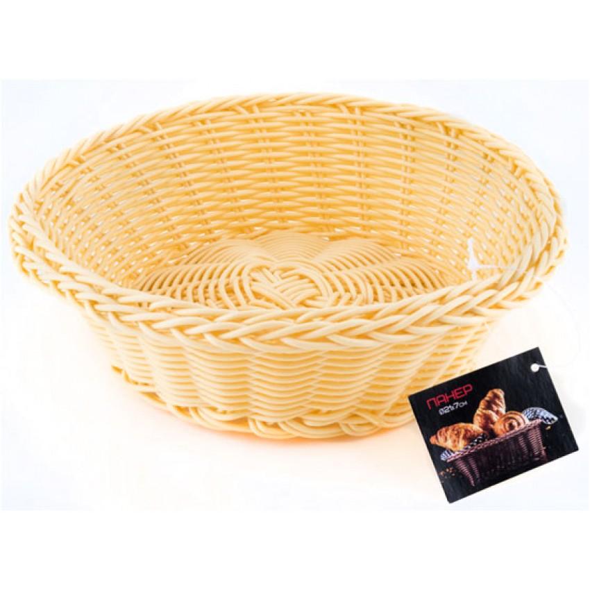 Панер за хляб 21см кръгъл - светъл