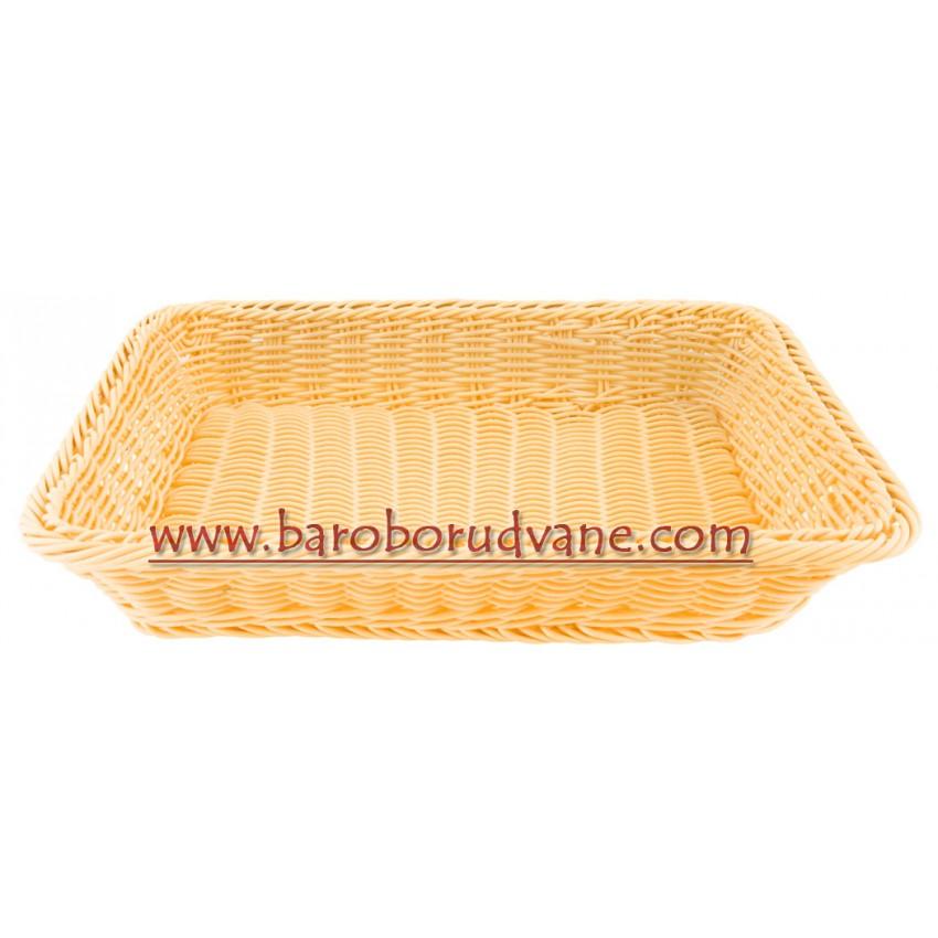 Панер за хляб 36см х 26см правоъгълен - светъл