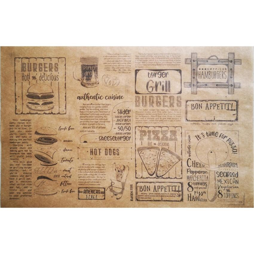 "Хартия за презентация ""GRILL KRAFT"" (500 бр.) - 22,5 х 14,5см."
