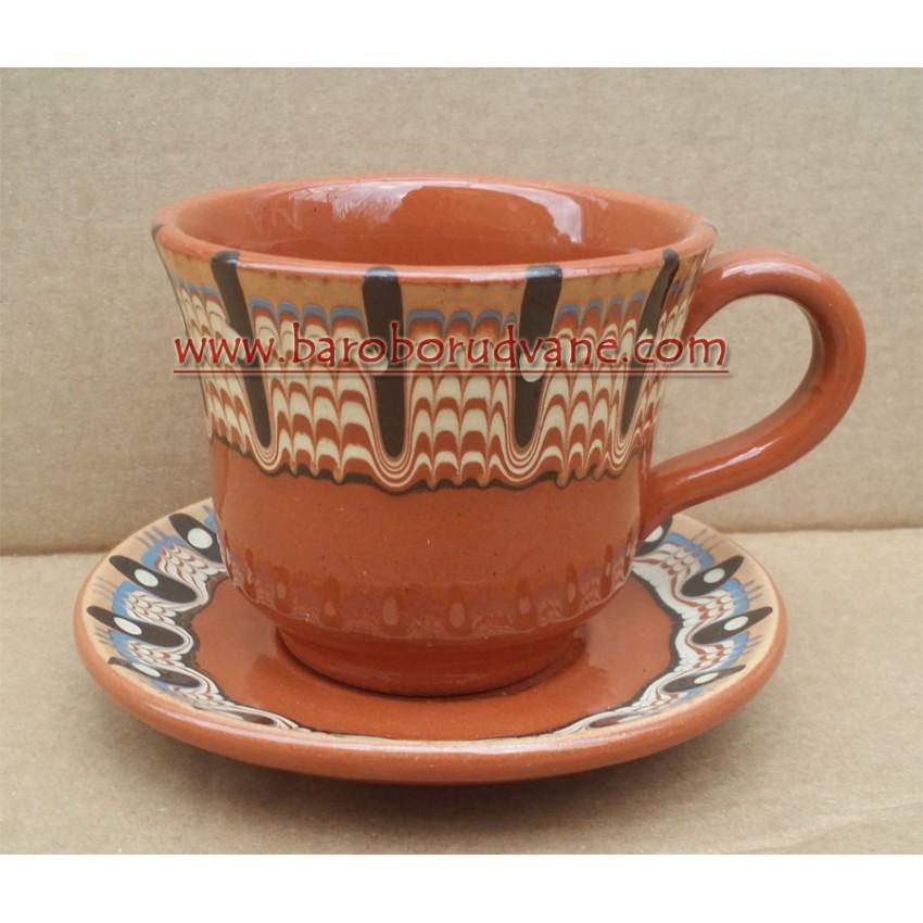 Чаша с чинийка 250ml - 6 броя
