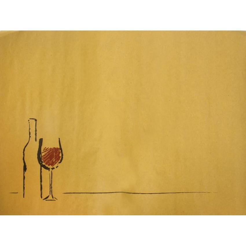 """Хартиена подложка за хранене """"Вино"""" (ЖЪЛТ ЦВЯТ) - 250 бр."""