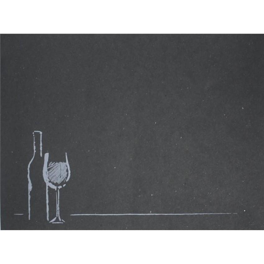 """Хартиена подложка за хранене """"Вино"""" (ЧЕРЕН ЦВЯТ) - 250 бр."""