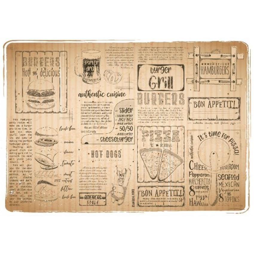 Хартиена подложка за хранене - GRILL  - 250 бр.