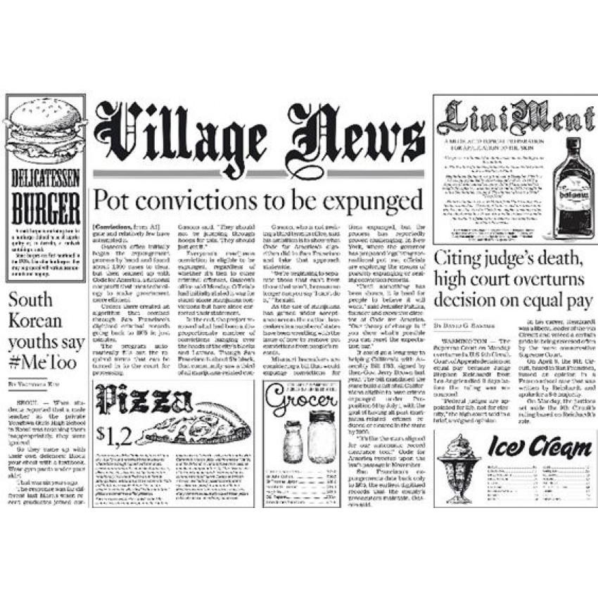 Хартиена подложка за хранене - WHITE Newspaper  - 250 бр.