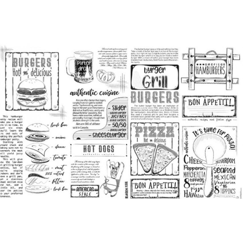 "Хартия за презентация ""GRILL"" (250 бр.) - 23 х 15cm."
