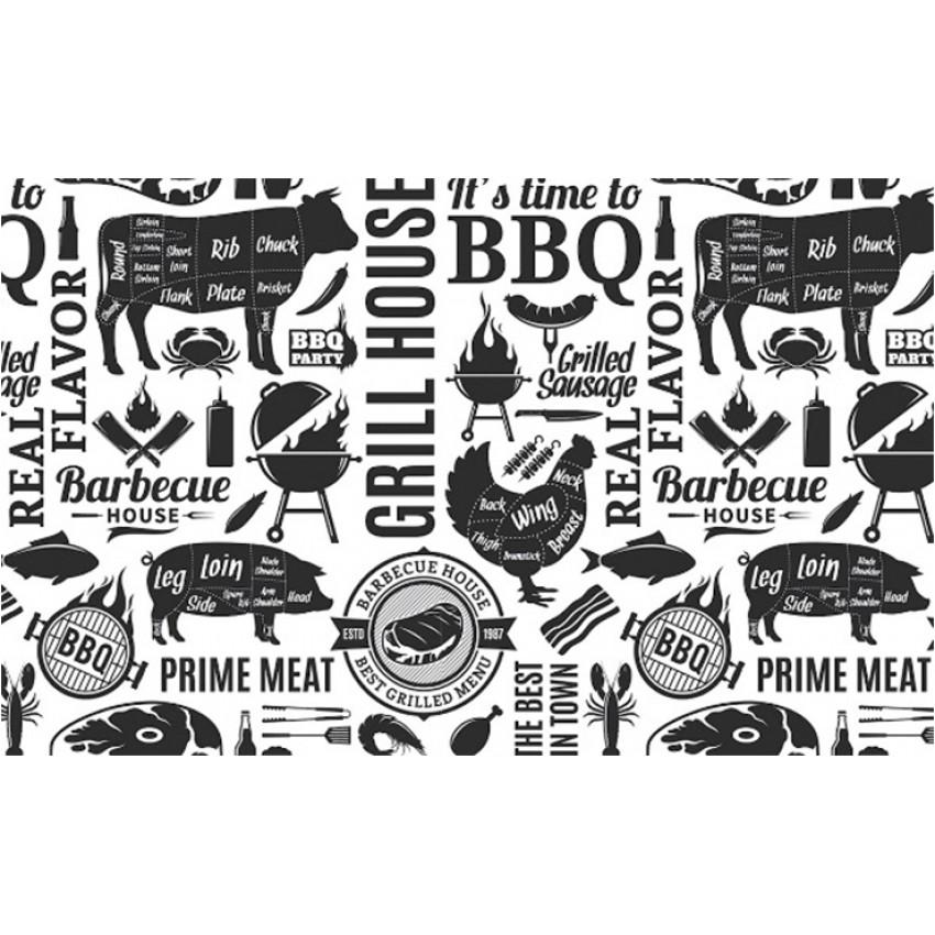 "Хартия за презентация ""BBQ WHITE"" (250 бр.) - 23 х 15cm."