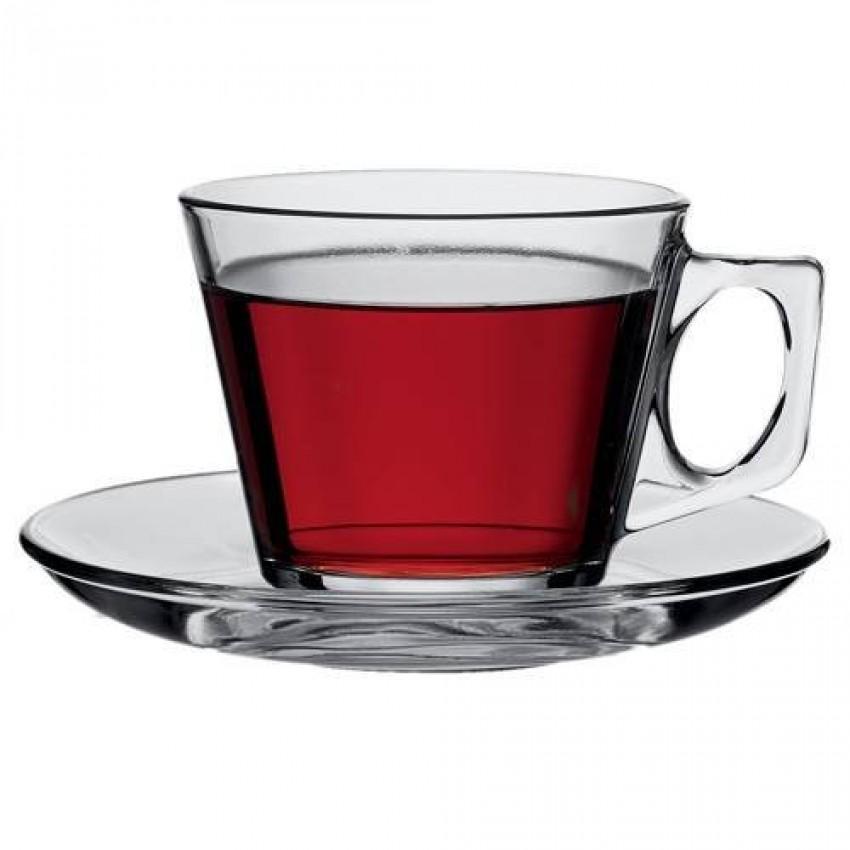 Чаша с чинийка 200ml Vela - 6 броя