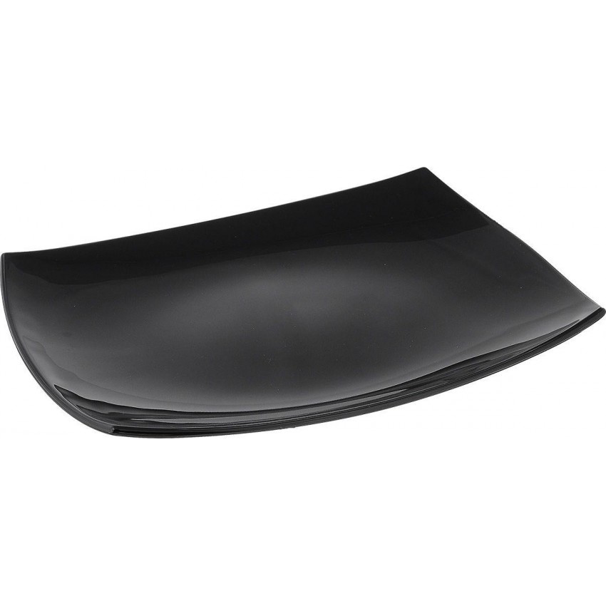 Плато 35см х 25 см - Quadrato - черно - 1 брой