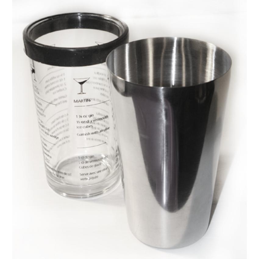 Шейкър с разграфена чаша - 600ml