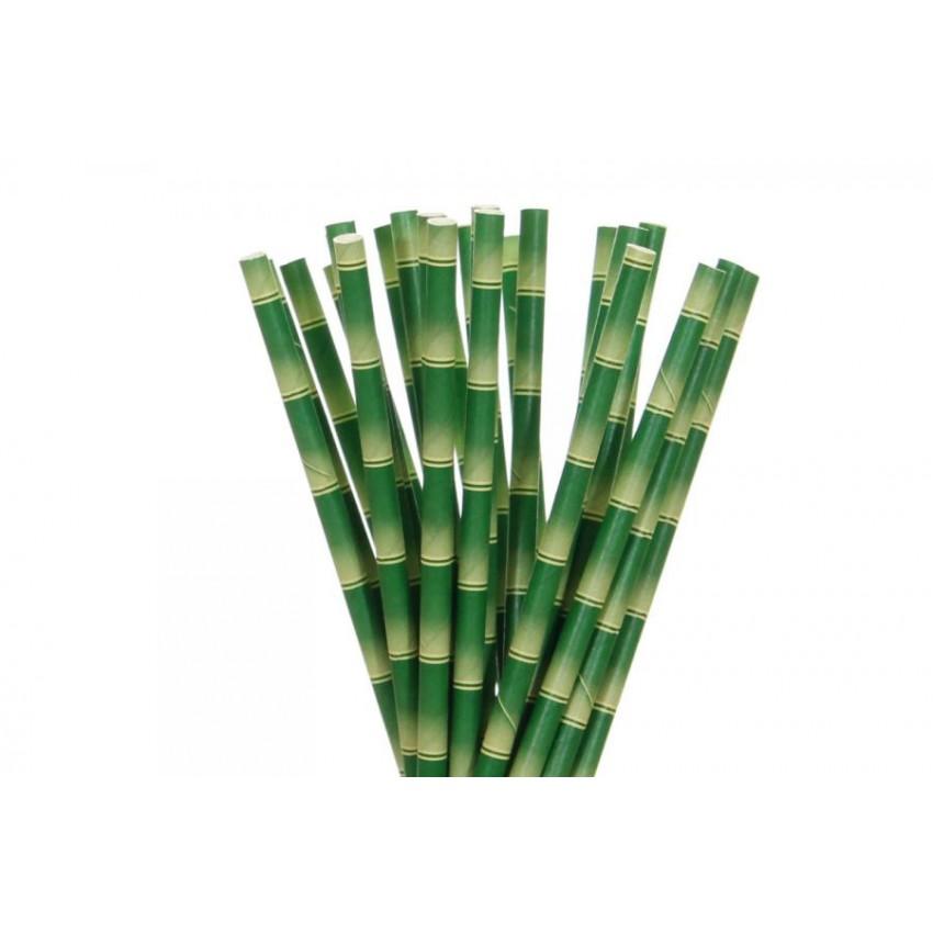 Хартиени сламки - цвят бамбук - 250 бр.