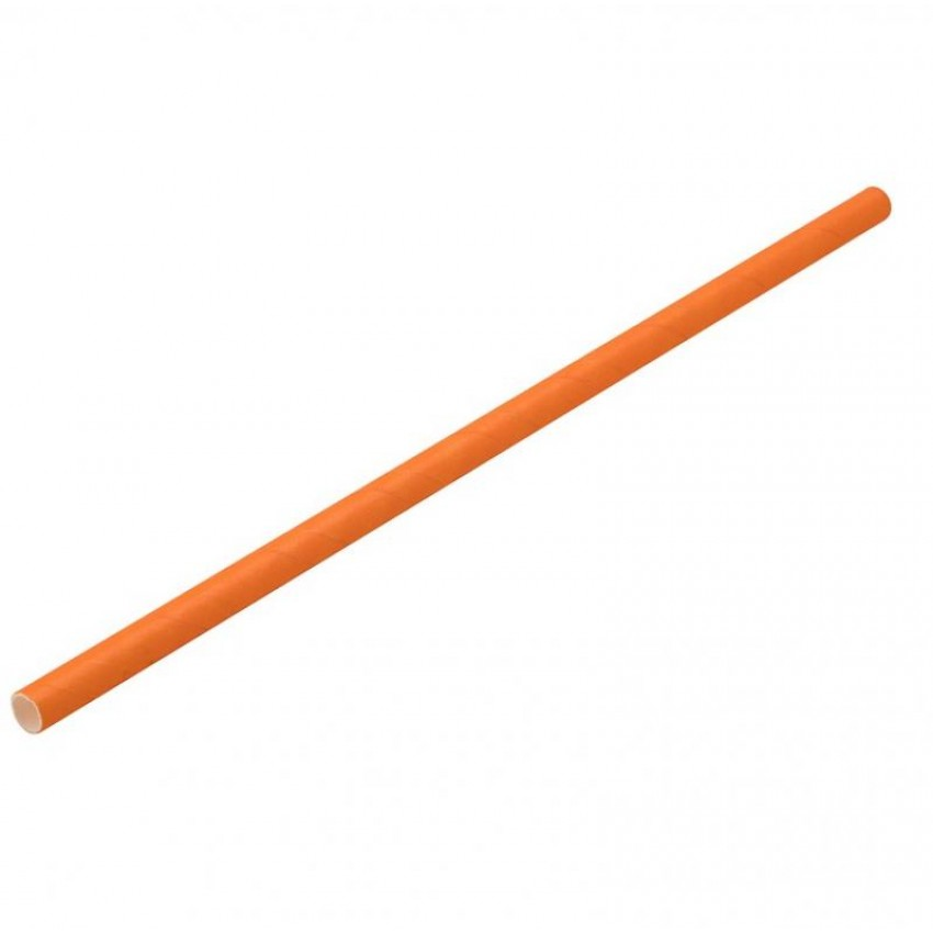 Хартиени сламки - оранж - 250 бр.