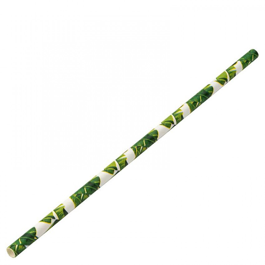 Хартиени сламки - тропик - 250 бр.
