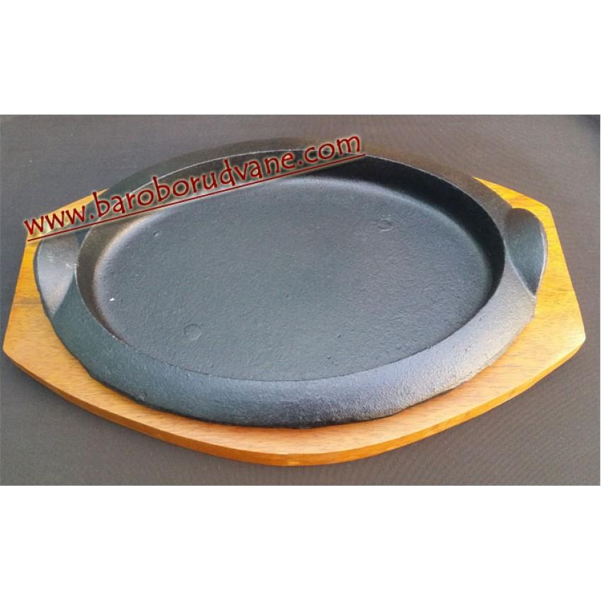 Метален сач 24х17см. с дъска - елипса