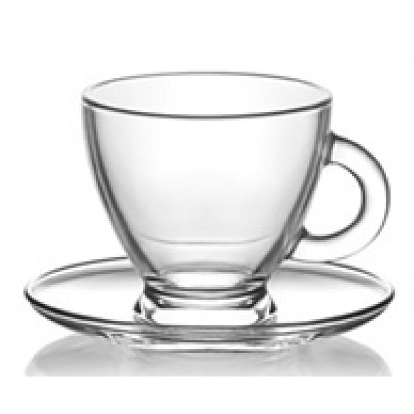 Чаша с чинийка 255ml Roma S5 - 12 броя