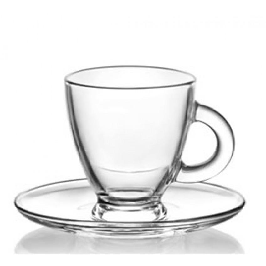 Чаша с чинийка 155ml Roma S3 - 12 броя
