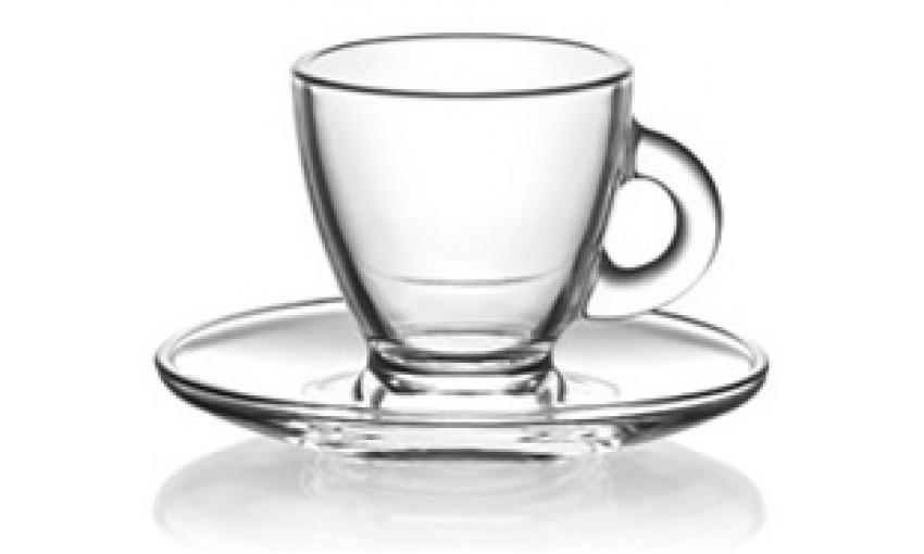 Чаша с чинийка 95ml Roma S1 - 12 броя