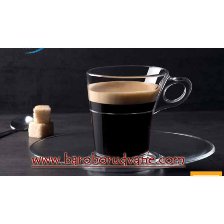 Чаша за кафе с чинийка 90ml - 6 броя