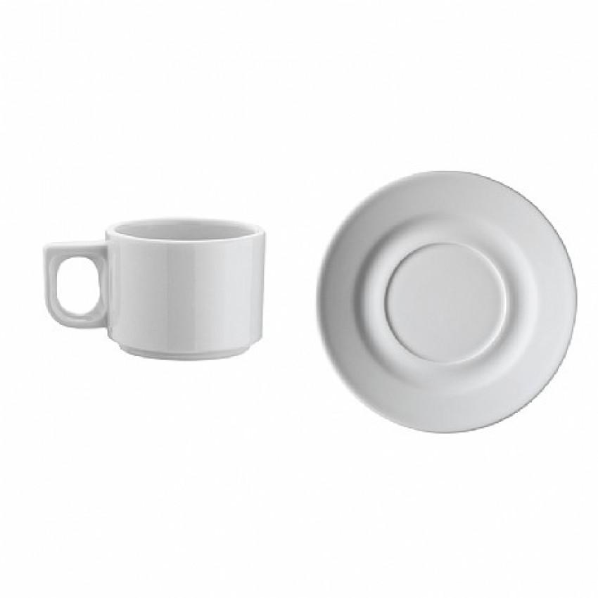 Чашa с чинийкa - 80 мл. - 12 бр.