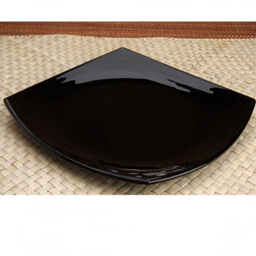 Основна чиния 26 см - черна - Quadrato - 6 броя