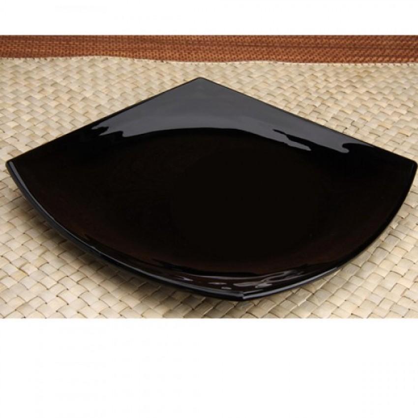 Десертна чиния 19см черна - Quadrato - 6 броя