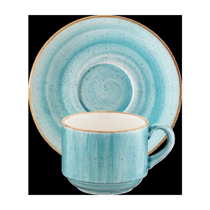 Чаша с чинийка Bonna Aqua - 80 мл. - 6 броя