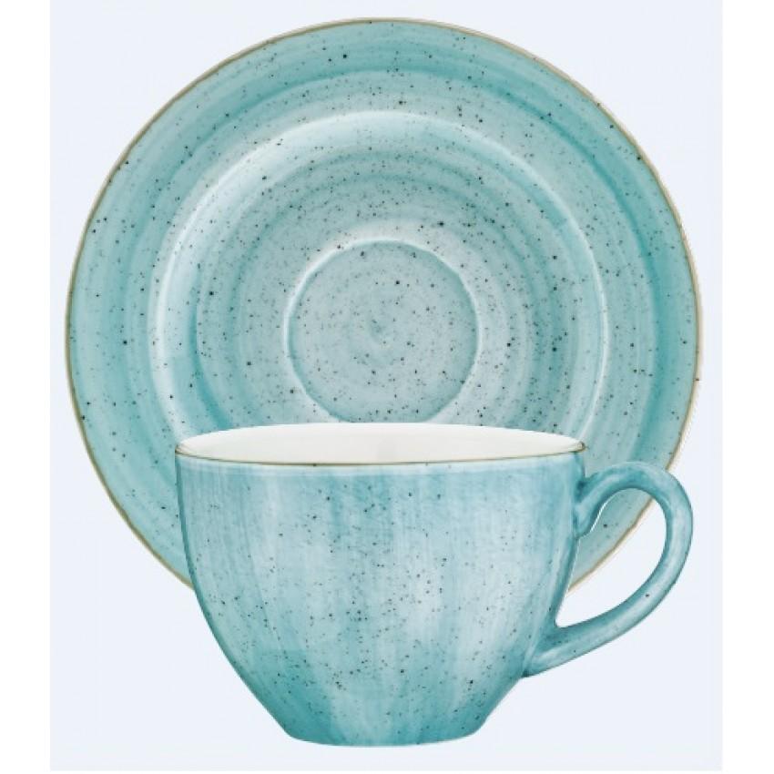 Чаша с чинийка Bonna Aqua - 230 мл. - 6 броя