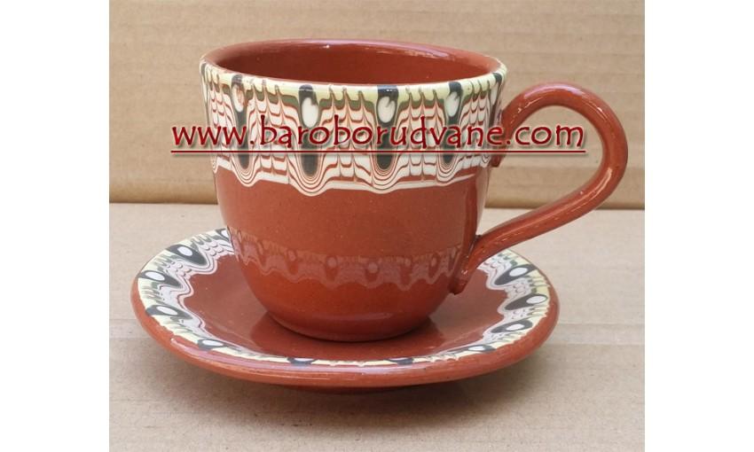 Чаша с чинийка 200ml - 6 броя