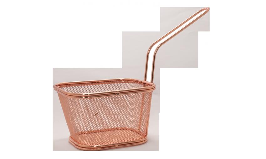 Метална кошница за сервиране - меден цвят