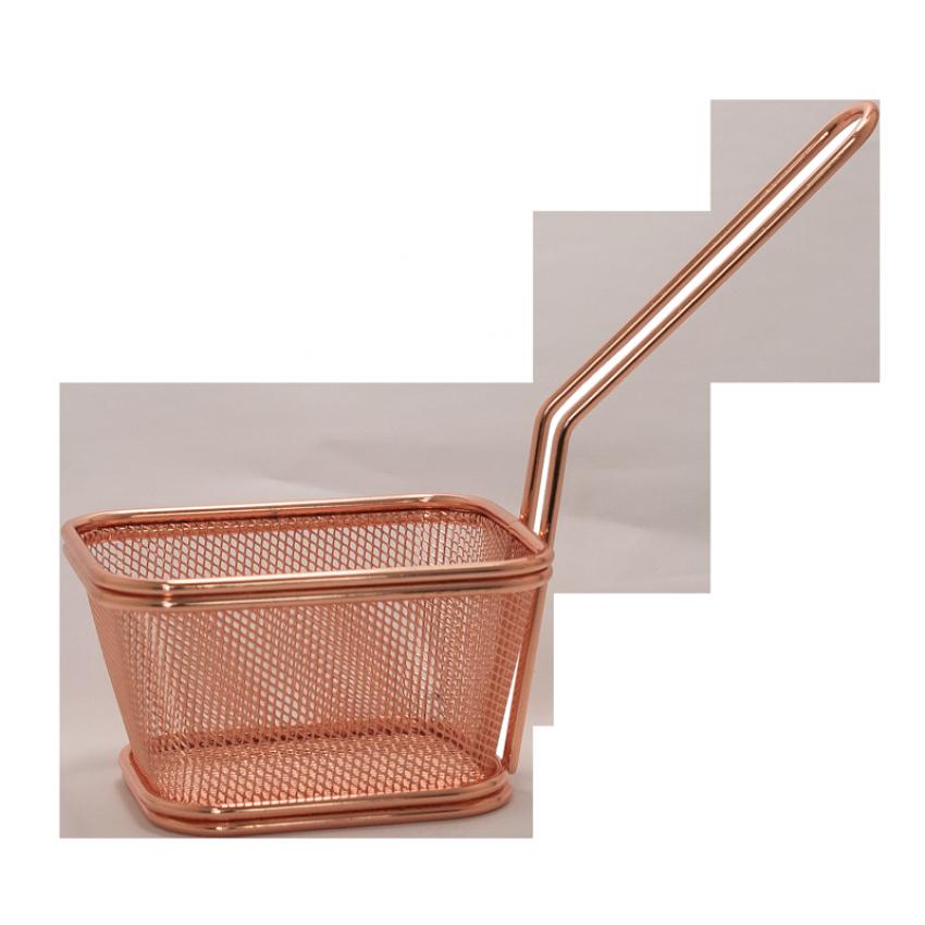 Метална кошница за сервиране - меден цвят - 10,5x9x6cm.