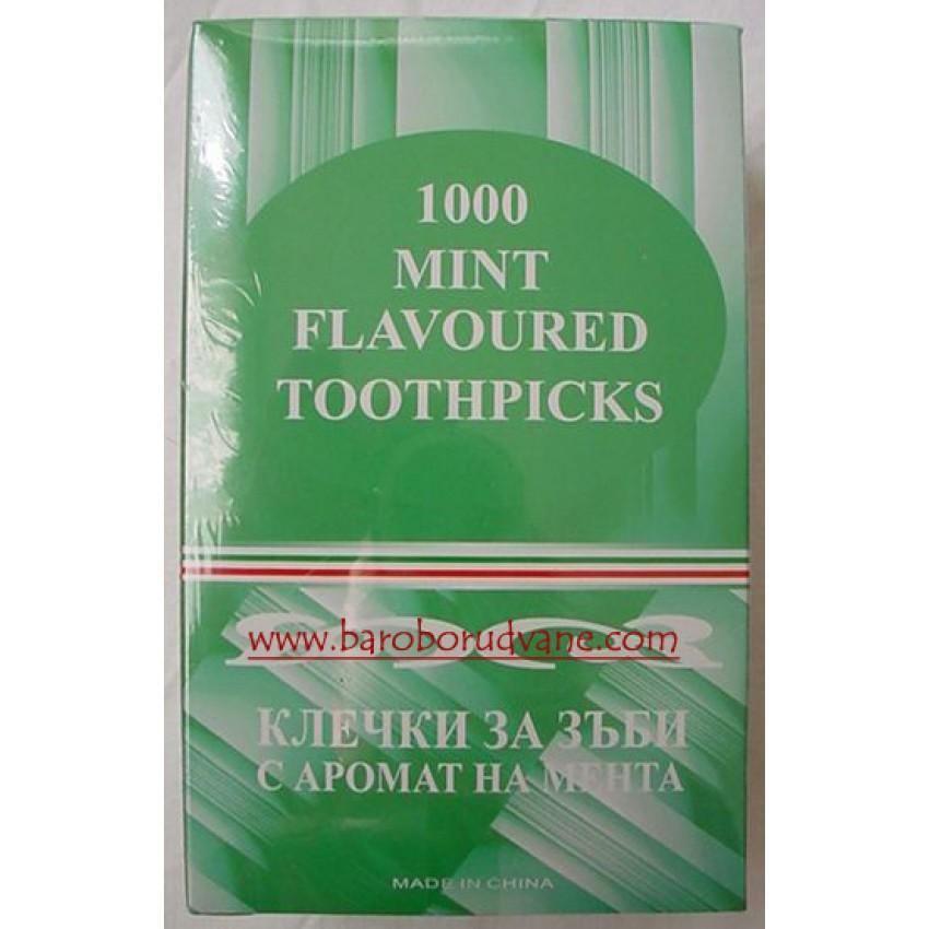 Клечки за зъби с ментов връх