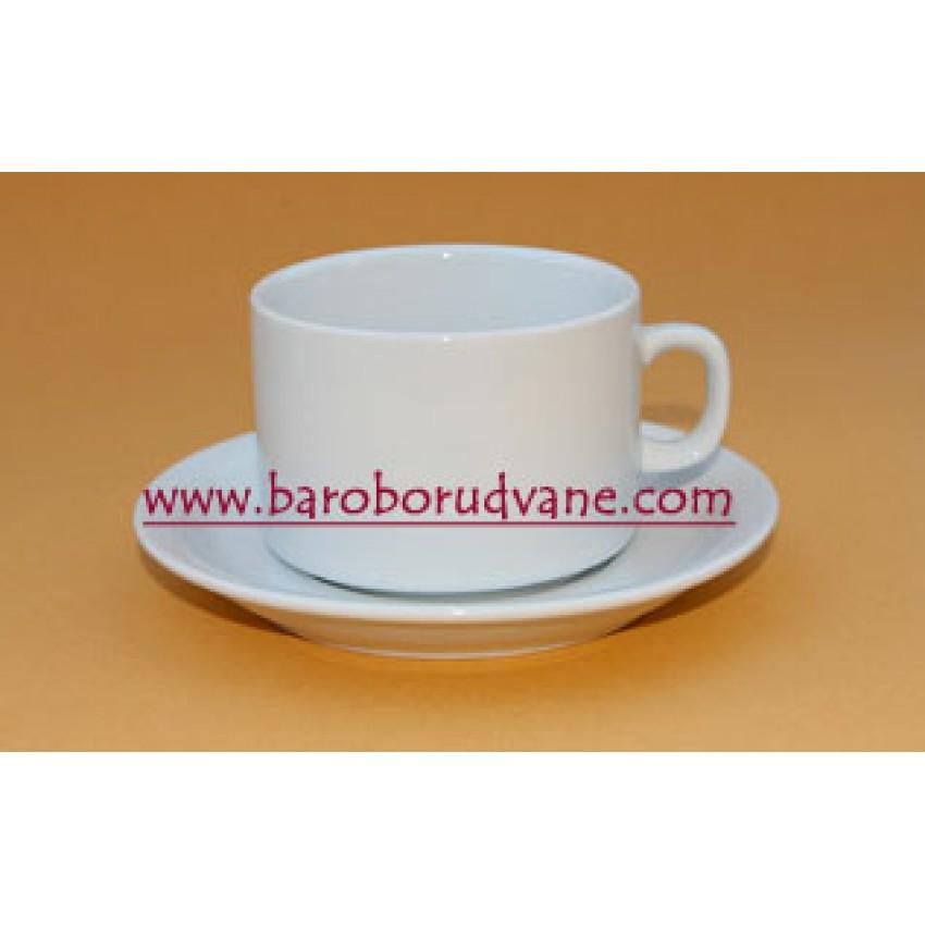 Чаша за кафе с чинийка 160ml - 12 броя