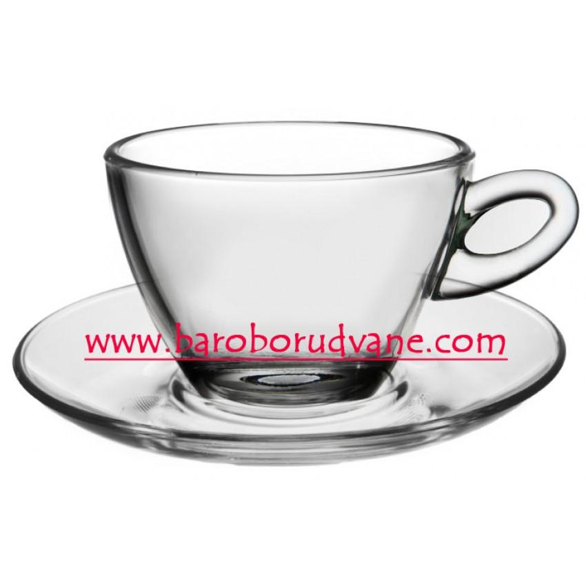 Чаша с чинийка за топли напитки 300ml - 12 броя