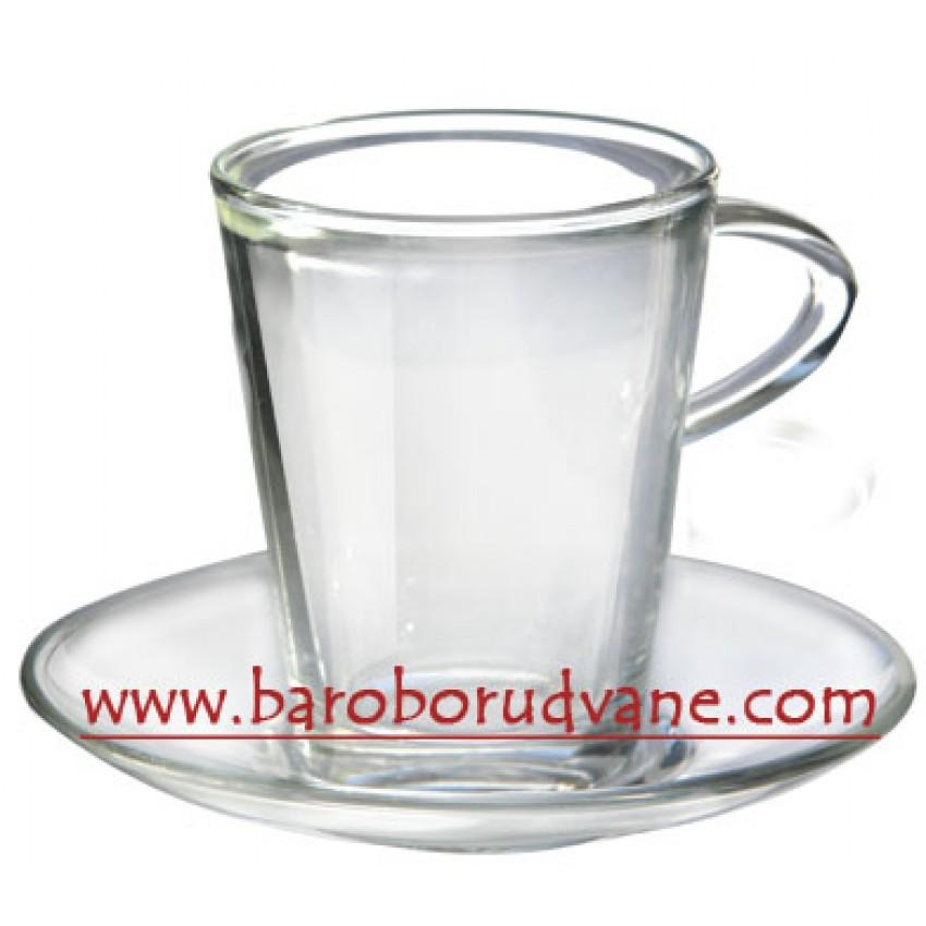 Чаша с чинийка за топли напитки 220ml - 12 броя