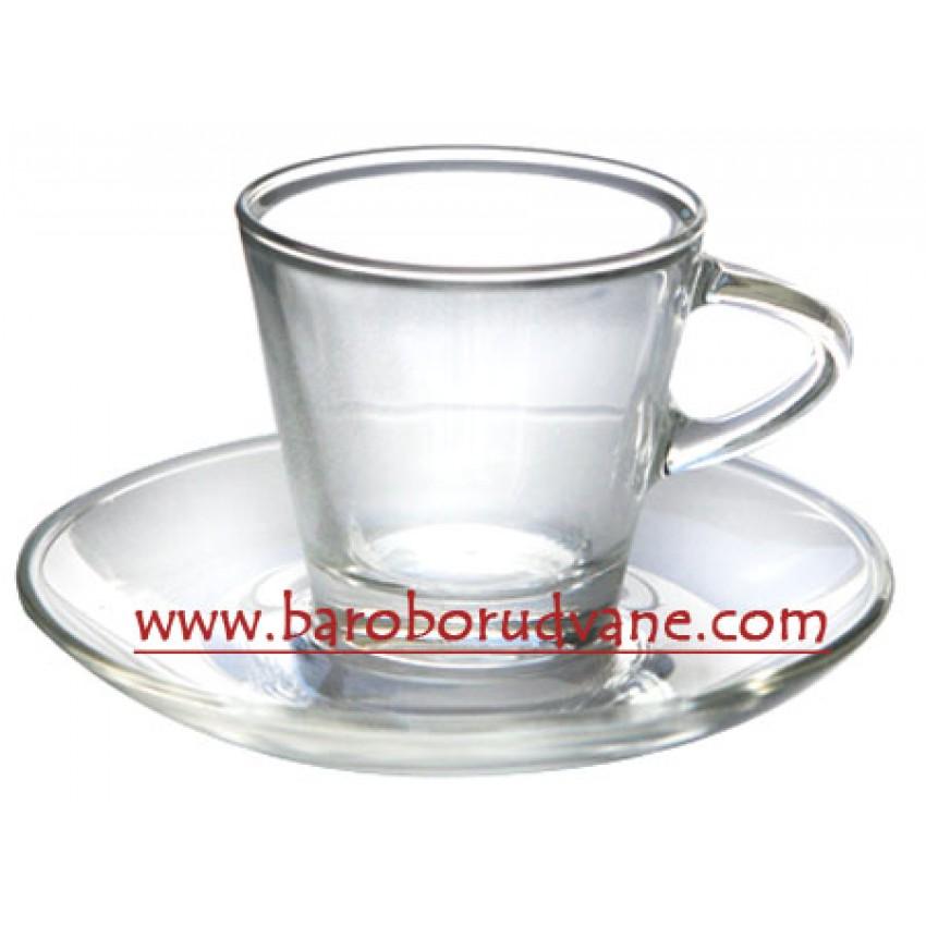 Чаша с чинийка за кафе 80ml - 12 броя