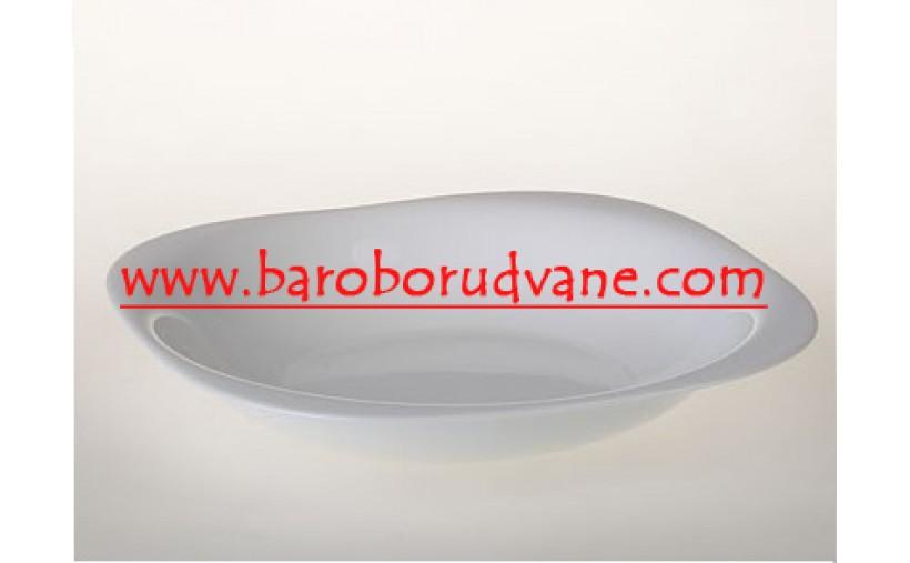 Дълбока чиния 21см бяла - Carine - 6 броя